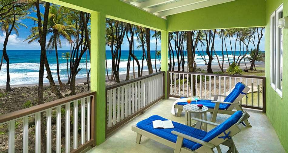 Rosalie Bay Resort   Lodge am Strand   © Rosalie Bay Resort