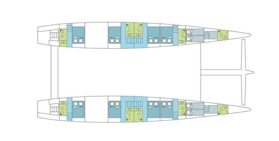 Dream 82   Kabinenplan (Schwimmer)   © Dreamyacht Charter