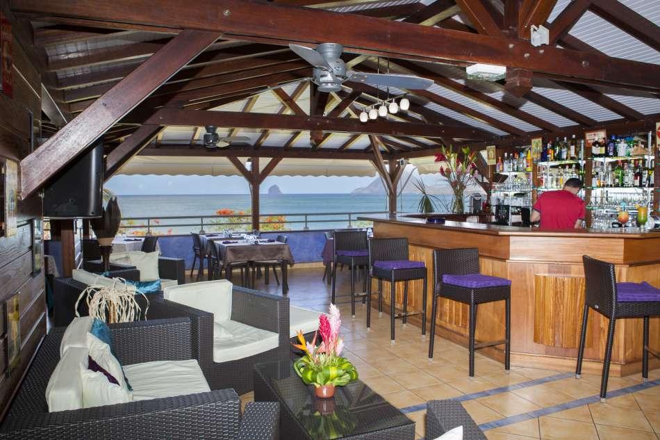 Corail Residence Karibea | Blick von der Bar zum Rocher du Diamant | © Corail Residence Karibea