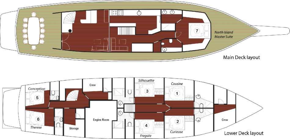 "MS ""Galatea"" | Decksplan | © Diving-Cruises Seychelles"