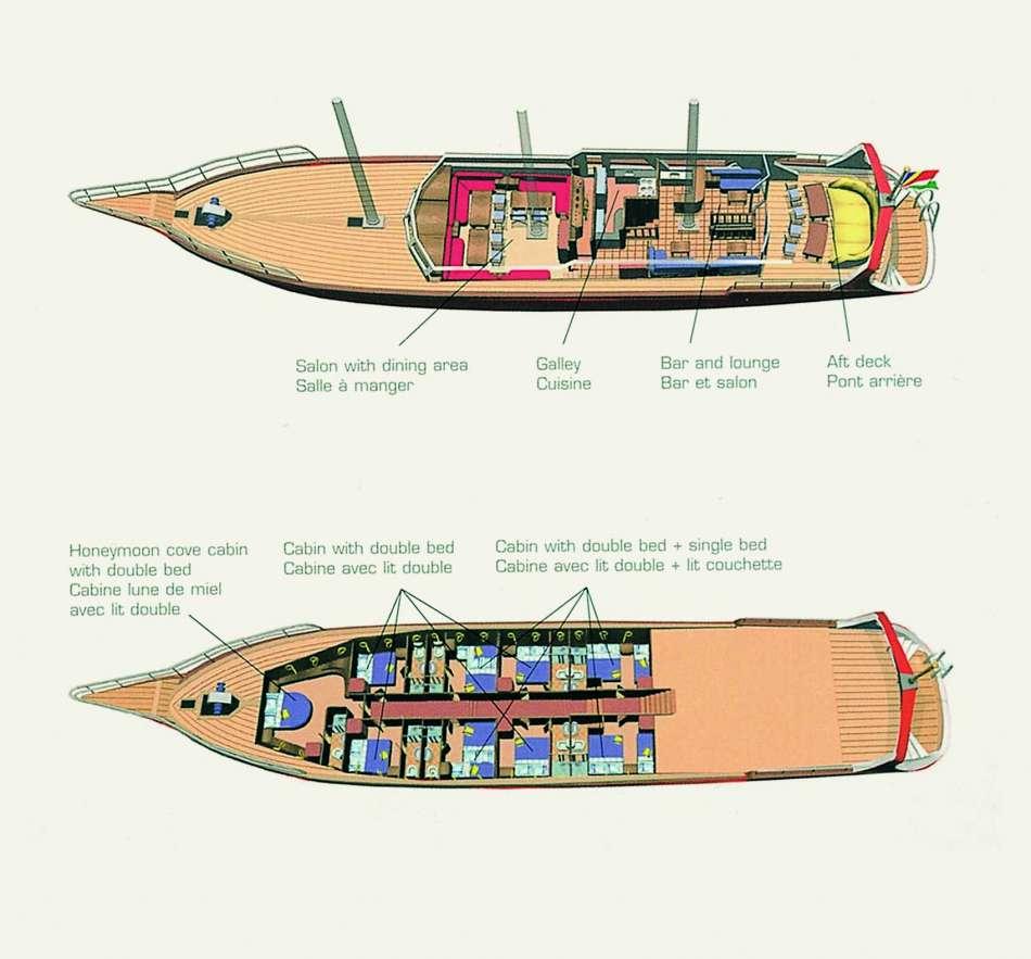 "SY ""Sea Star"" | Decksplan | © Silhuette Cruises"